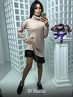 Очень красивое и модное платье с кружевом
