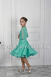 Рейтинговое платье Бейсик для бальных танцев Sevenstore 9101 Мята