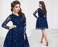 Красивое нарядное короткое пышное женское  платье  +цвета, фото 1