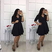 Черное женское платье на большой размер