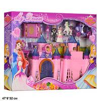 Замок SG-2973 с мебелью,куклами,каретой батар.муз.свет