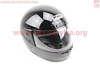 Черный мотошлем глянец удобный и стильный  размер М 57-58 см