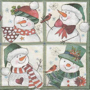 Салфетки 4 Снеговичка 10шт