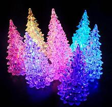 Светильник хамелеон/ ночник  с цветной подсветкой Елочка 12 см.