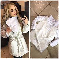Куртка осень еврозима Ameli+ Норма и Батальные размеры!  Белый!