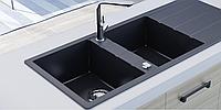 Гранитная кухонная мойка Sinks Level 2B 1D (карбон)