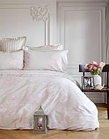 Комплект постельного белья евро Karaca Home сатин  Passero пудра