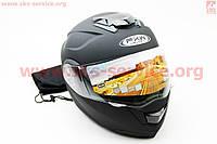 Шлем трансформер с очками черный  глянец  размер  S