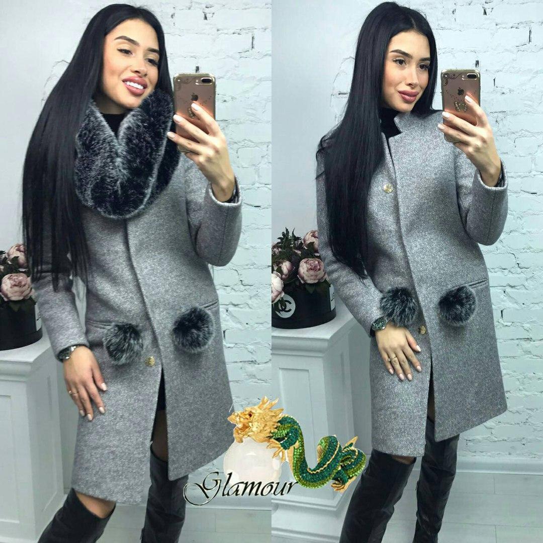 Купить Женское зимнее пальто из шерсти с искусственным мехом 560241 ... 0aeb26675c626