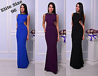 Платье в пол без рукавов с глубоким вырезом на спине 7103402 42, фиолетовый