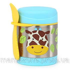 Термос для еды с ложечкой Жираф Skip Hop 252380