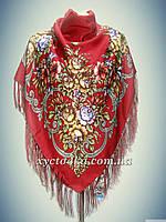Шерстяной платок, красный