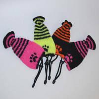 Зимняя шапочка-носочек VipDoggy размер M