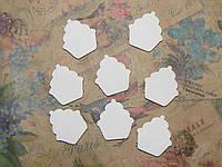 Чипборд 4 Кексик 25*2,5см 8шт Albinos-cards