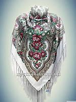 Шерстяной платок Очарование, белый