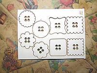 Чипборд 112 Пуговчки  10*7см Albinos-cards