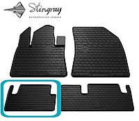 Citroen C4 Picasso 2013- Задний левый коврик Черный в салон