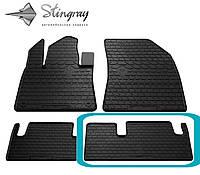 Citroen C4 Picasso 2013- Задний правый коврик Черный в салон