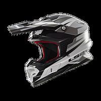 Кроссовый шлем LS2 MX456 FACTORY WHITE BLACK TITANIUM размер XL