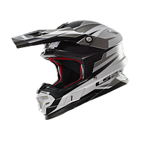 Кроссовый шлем LS2 MX456 FACTORY WHITE BLACK TITANIUM размер S