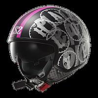 Шлем открытый  LS2 OF561 WAVE DUO MATT BLACK-PINK  размер ХS