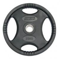 Млинці (диски) для штанги обгумовані з хватом Stein 25 кг