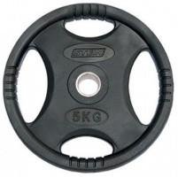 Млинці (диски) для штанги обгумовані з хватом Stein 5 кг
