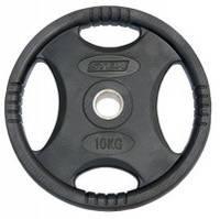 Млинці (диски) для штанги обгумовані з хватом Stein 10 кг