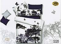 Комплект постельного белья  ELWAY сатин 3D 320
