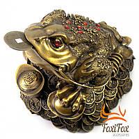 Денежная жаба с монеткой во рту 20 см