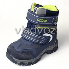 Детские зимние термо ботинки для мальчиков сапоги Clibee синие 27р.