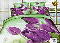 Комплект постельного белья  ELWAY сатин 3D 342