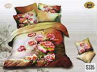 Комплект постельного белья  ELWAY сатин 3D 335