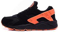 "Мужские кроссовки Nike Air Huarache ""Black/Orange"""