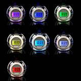 Часы-будильник 7 color light 502 с RGB подсветкой (AMC), фото 2
