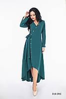 Женское длинное платье с запахом 316 ОКС