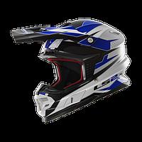 Кроссовый шлем LS2 MX456 FACTORY, WHITE BLACK BLUE размер L