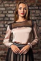 """Блузка женская из шелка с длинным рукавом """"Француз"""""""