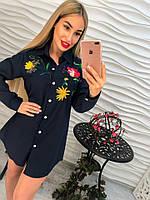 Удлиненная котоновая блузка