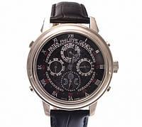 Мужские механические наручные часы Patek Philippe Sky Moon Tourbillon silver black