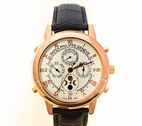 Мужские механические наручные часы Patek Philippe Sky Moon Tourbillon gold white