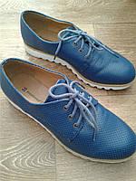 Женские туфли оксфорды на шнурках