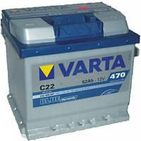 Аккумулятор VARTA 52 Ач  Blue Dynamic  C22 (0)