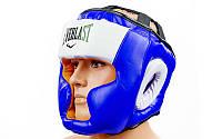 Шлем боксерский с полной защитой FLEX EVERLAST  (синий, р-р L-XL)