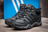Зимние кроссовки Adidas Terrex черные высокие  мех.цигейка