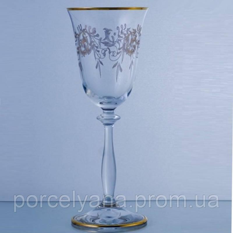 Бокалы для вина Bohemia Angela золото 6шт 250мл