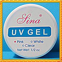 Гель Lina для наращивания ногтей, 15 мл. Pink - Розовый.