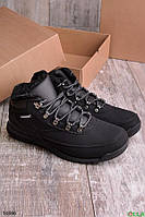 Мужские ботинки  черного цвета зимние размер 42 обувь № 16986