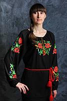 Изумительная блуза с вышитыми маками Код:191505831