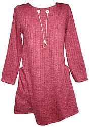 Платье женское украшение карманы принт батал (деми)